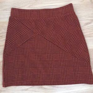 Free People plaid mini skirt XS